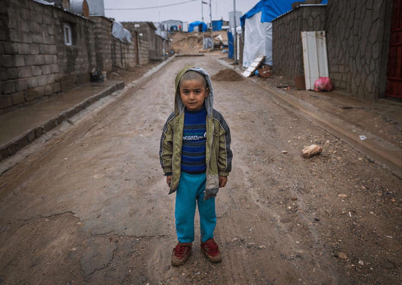 Un enfant syrien dans un camp de réfugié en Iraq